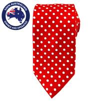 Men's 8.5 CM Maroon White Polka Dots Pattern Necktie Polka Dotted Neck tie