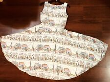 Queen of Holloway M Dress Pinup Swing 50-60s Paris City Cafe Midi