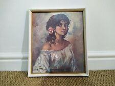 Vintage art print framed
