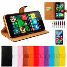 Colorful Genuine Real Leather Wallet Case for Nokia Lumia 640 & 640 XL