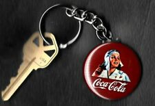 Coca-Cola Female Pilot COKE Keychain Key Chain 1950's