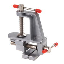 """Aluminum Miniature Vise Small Jewelers Hobby Clamp On Table Bench Tool Vice 3.5"""""""