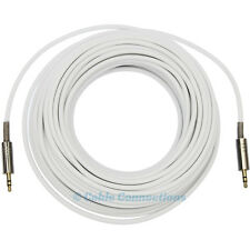 7m 3.5MM WHITE AUDIO JACK TO PLUG CABLE COMPUTER TV IPOD IPHONE 4 HIFI STEREO
