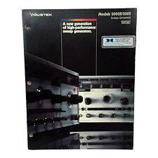 Wavetek Models 2002b 2005 Sweep Generators Technical Data Sheet