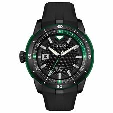 Citizen Eco-Drive Men's AW1505-03E Golf Green Accents Black Poly Strap Watch
