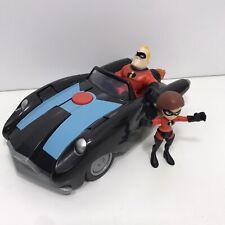Disney Pixar Jakks The incredibles Car & Mr Incredible Elastigirl Incredimobile