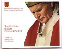 Vaticano 50 c. stamp&coincard 2011 N° 1 Beatificazione Giovanni Paolo II blister