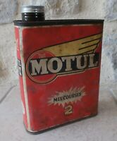 Öldose MOTUL 2 Temps Dose Blechdose Tankstelle Motoröl vintage Frankreich