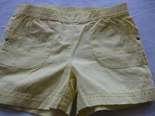 Hosen Jeans Shorts kurze Hosen Gr. 98/104 Gelb, Bund Gummizug, 2 Taschen,wie neu