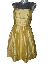 Joli nouveau ALFRED ANGELO or soie bustier demoiselles d'honneur de bal robe de soirée SZ12