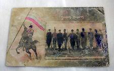 Rare old photo KINGDOM BULGARIA Bulgarian soldiers' uniforms - color