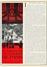 1965 Paris Motor Show - Rene Bonnet D-jet - Car Original Print Article J209