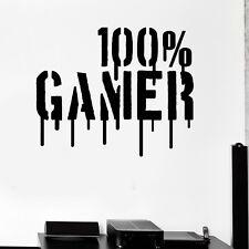 100% Gamer Wandtattoo Wallpaper Wand Schmuck 55 x 45 cm Wandbild