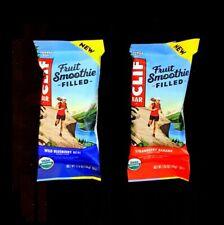 80 CLIF ENERGY BAR 40 STRAWBERRY BANANA & 40 WILD BLUEBERRY ACAI FRUIT SMOOTHIE