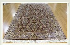 "Carpet 5' X 7' 06"" Silk All-Over Kashan Rug New"