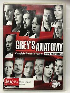 Grey's Anatomy - Season Seven - 6 DVD Set - AusPost with Tracking