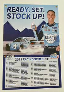 2021 Busch - Busch Light NASCAR  Kevin Harvick Schedule Banner Sign - 24''x36''