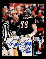 Dan Hampton HOF 2002 PSA DNA Coa Hand Signed 8x10 Autograph Photo