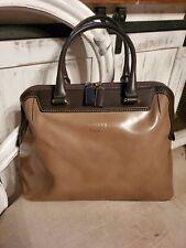 Iacucci Pelletteria Patent Leather Handbag Made In Italy