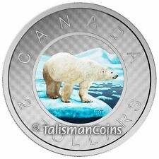 Canada 2016 Big Coins Series #6 Polar Bear Color $2 Toonie 5 Oz Silver Proof