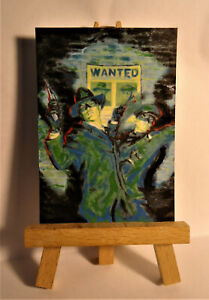 Green Hornet Vintage Cover ACEO Original PAINTING by Ray Dicken