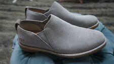 Size 7.5 UK UGG Camellia Grey Slip On Loafers Ash Suede Sheepskin Flats