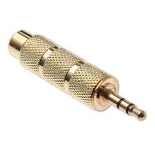 Adaptateur Jack 3,5mm Mâle vers Jack 6,3mm Femelle Stéréo Connecteur Plaqué Or