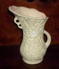 Vintage Pottery Vase / Retro Green Floral specks Jug Art Deco Surrey
