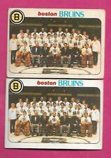 2 X 1978-79 OPC # 193 BRUINS UNMARKED TEAM CHECKLIST CARD (INV# C2710)