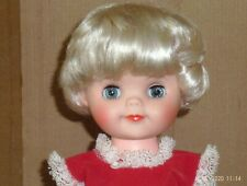 vintage 15 in. s. vinyl plastic jointed unmarked doll w. extra outfits- Bonnie?