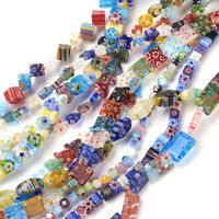 10 Strds Random Handmade Lampwork Glass Beads Colorful Millefiori Craft 6~16mm