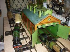 HORNBY O GAUGE DOUBLE ENGINE SHED CLOCKWORK