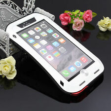 Love Mei Aluminum Waterproof Gorilla Glass Case Cover for iPhone 4 5 & 6 iPhone 5/5s Red