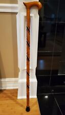 "Full Wooden Cane Men's Triple Twist Scorched Derby Walking Stick cane 36"""