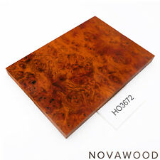 ROTES AMBOINA MASER MESSER SCHALENPAAR HOLZ SCALES AMBOYNA BURL SCALES HO3672
