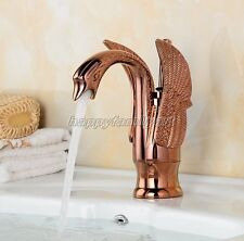 Rose Gold Copper Single Hole Handle Bathroom Basin Sink Faucet Mixer Tap ygf050