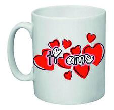 tazza 8x10 ceramica scritta ti amo cuore cuori rossi idea regalo san valentino