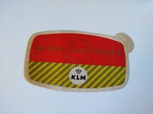 KLM original airline Sticker vintage rare  - BOAC style British American Dutch