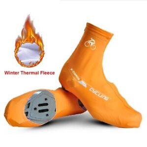 Bike Shoe Cover Winter Thermal Waterproof Warm Windproof Cycling Racing MTB Road