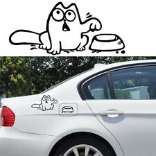 """Funny Cat """"Feed Me"""" Vinyl Sticker Wall Laptop Car Fuel Tank Vehicle Auto Decal"""