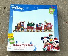 Disney Mickey Mouse & Friends  Large Lighted Yard Sculpture Christmas Train New