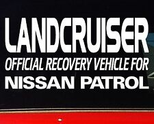 LANDCRUISER 4x4 100 80 Series accessories Stickers 200mm OFFICIAL RECOVERY