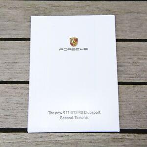 Porsche GT2 RS Clubsport Postkartenset in OVP Selten und unbenutzt