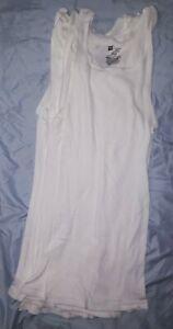 6 NWOT Hanes Men's Comfort Soft  Tank Top White Size M
