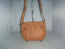 Vince Camuto Handbag, Cristina Leather Cross-Body Shoulder Bag, Purse $138 Brown