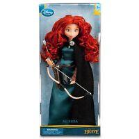 "NEW Disney Store Exclusive Classic 11"" Brave Princess Merida Doll Bow Arrow MIB"