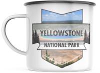 Yellowstone Montana National Park 12 OZ Enamel Mug Campfire Mug  Souvenir