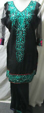 Pakistani  silk whit full embroider  salwar kameez SIZE XL48