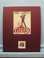 """John Travolta & Olivia Newton-John in """"Grease"""" and the Rock and Roll  stamp"""