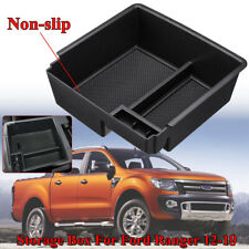 Armrest Storage Center Console Tray Box + 2 RubberS Mat For Ford Ranger PX3